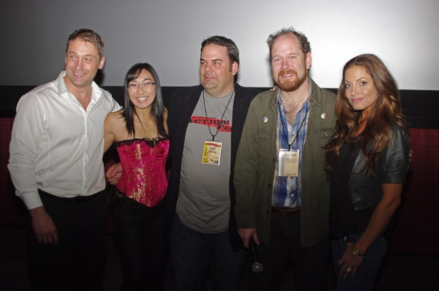 Bail Enforcers Premiere at ActionFest 2011 with Frank J. Zupancic (Ridley), me (Ruby), Patrick McBrearty (Director, Colin Geddes (ActionFest Festival Director), and Trish Stratus (Jules)