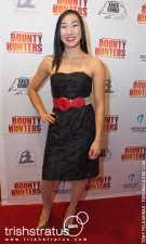 Andrea James Lui on the red carpet for Bounty Hunters