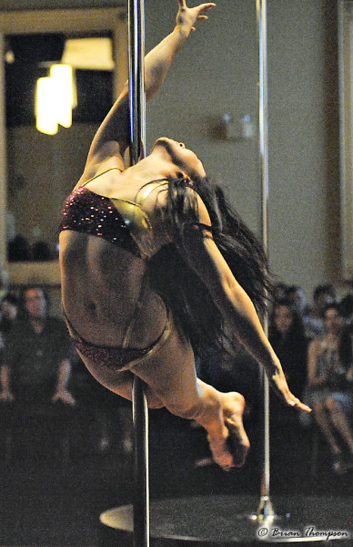 Andrea James Lui performing at Canadian Pole Fitness Association's 2013 Ontario Pole Fitness Championships