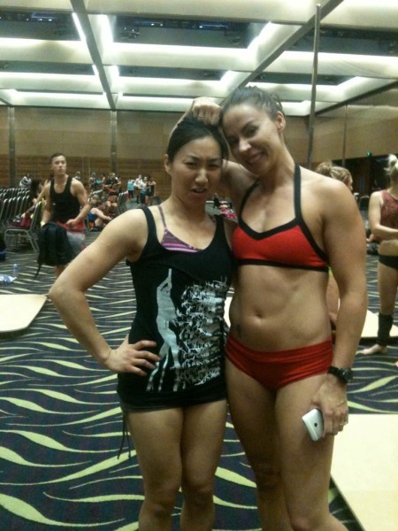Andrea James Lui with Carlie Hunter at West Australian Pole Camp