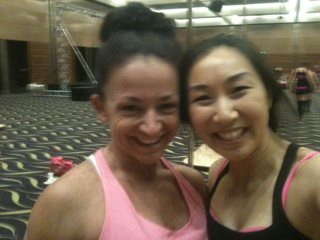 Andrea James Lui with Venessa Clack at West Australian Pole Camp